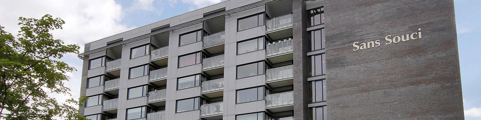 Een eigentijdse architectuur kenmerkt Sans Souci